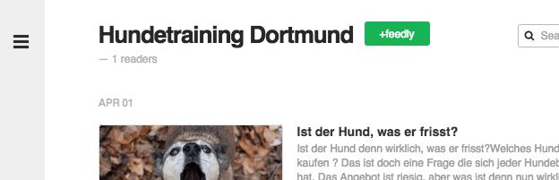 Hundetraining Dortmund bei Feedly abonnieren