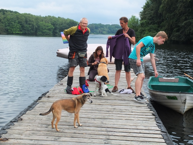 Abfahrt zum Hundetraining am Halterner See
